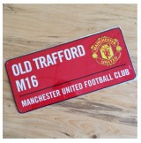 Manchester United Color Street Sign